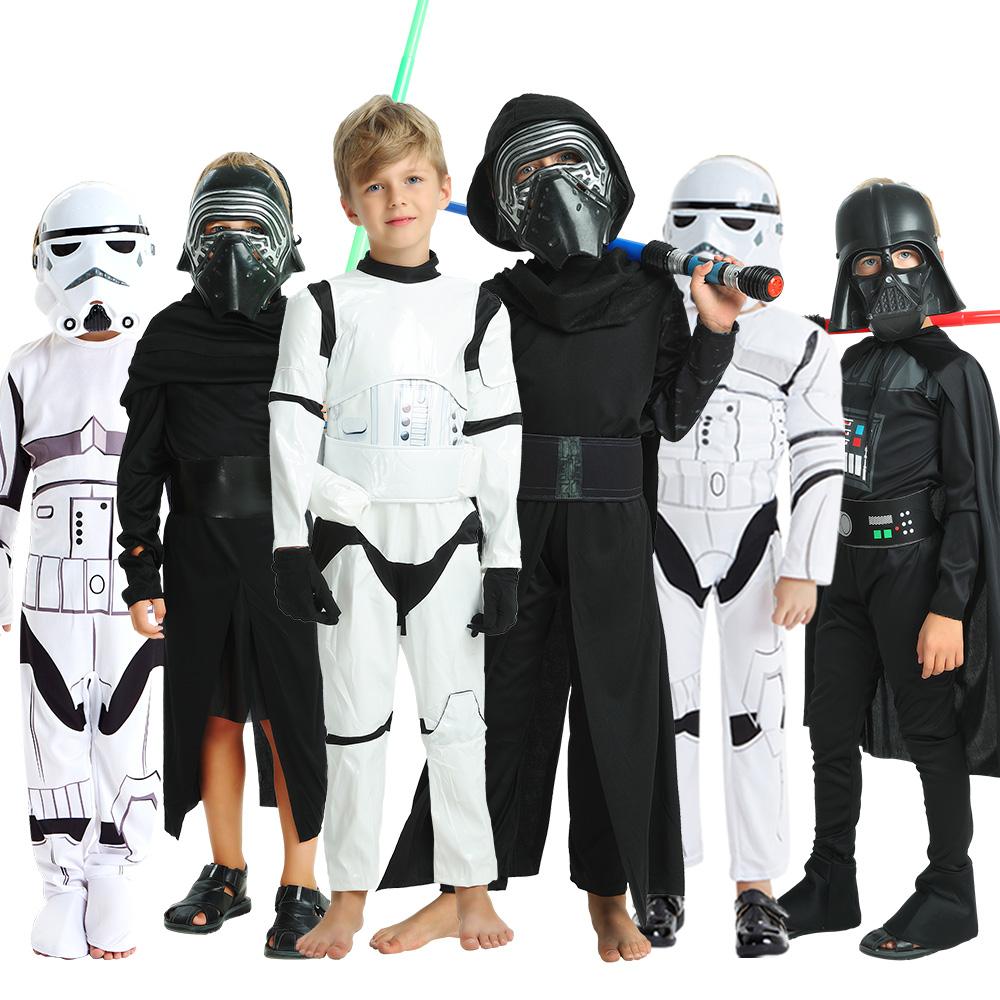万圣节儿童服装星球大战Cos达斯维达黑衣服白兵蕾伊武士武士绝地