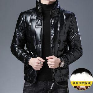 亮面轻薄羽绒服男短款冬季新款韩版潮流加厚