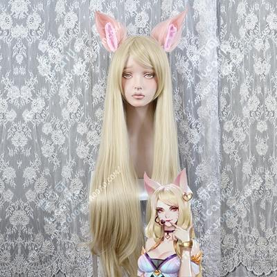 taobao agent Spot LOL League of Legends K/DA kda women's group Ari sexy sister cosplay wig