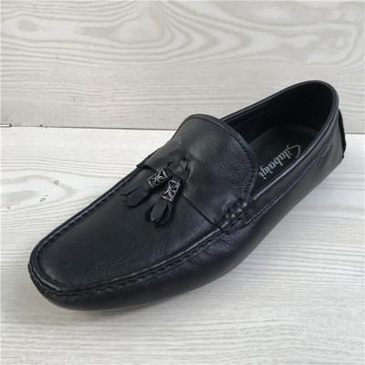 断码鞋特价男鞋 真皮头层牛皮日常休闲流苏鞋豆豆鞋软底男单鞋b37