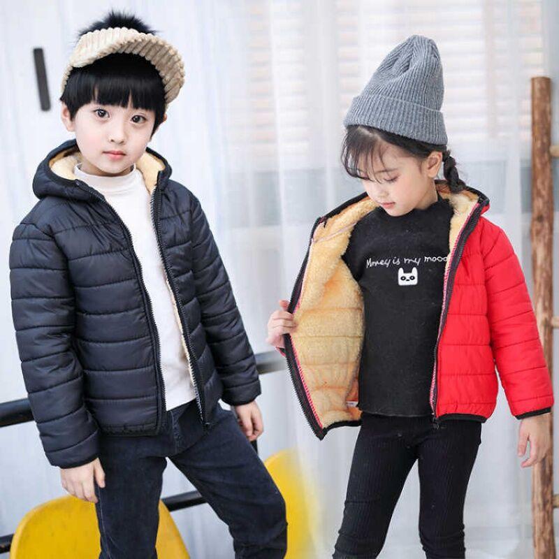 兒童羊羔絨男童棉服女童棉襖寶寶加絨加厚童裝外套潮棉衣
