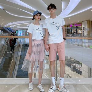 FS72397# 情侣装女裙男衣 不一样的情侣套装 服装批发女装货源