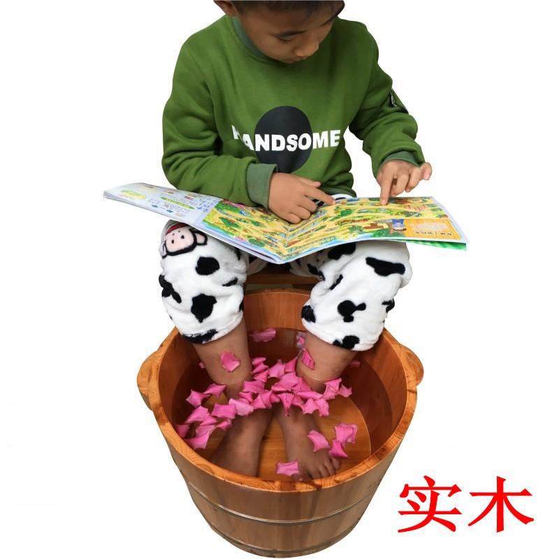 儿童泡脚木桶小孩宝宝小号洗脚保温沐足浴桶木制木盆实木头家用