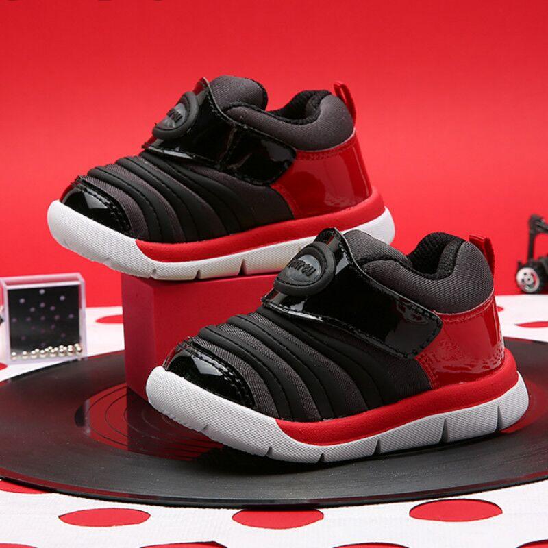 卡特兔新款毛毛虫鞋男童女童1-3-5岁女宝宝童鞋学步鞋运动机能鞋