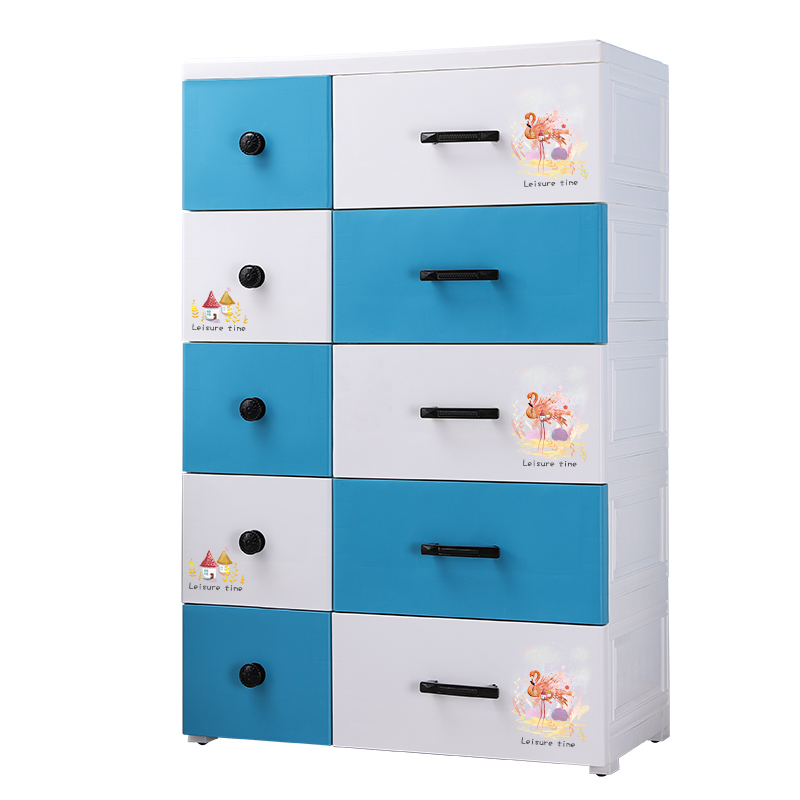 Thickened extra-large 67cm cartoon plastic drawer storage cabinet multi-layer household cabinet storage cabinet children's wardrobe