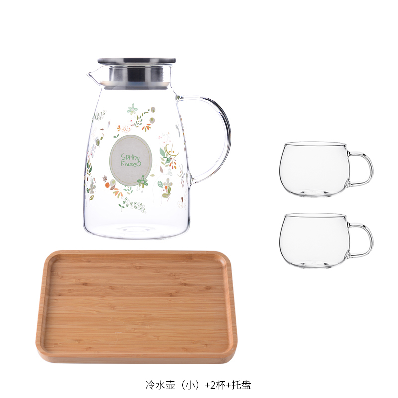 SMALL MU WIND KETTLE 1.5L+2* LARGE CUP + BAMBOO PLATE
