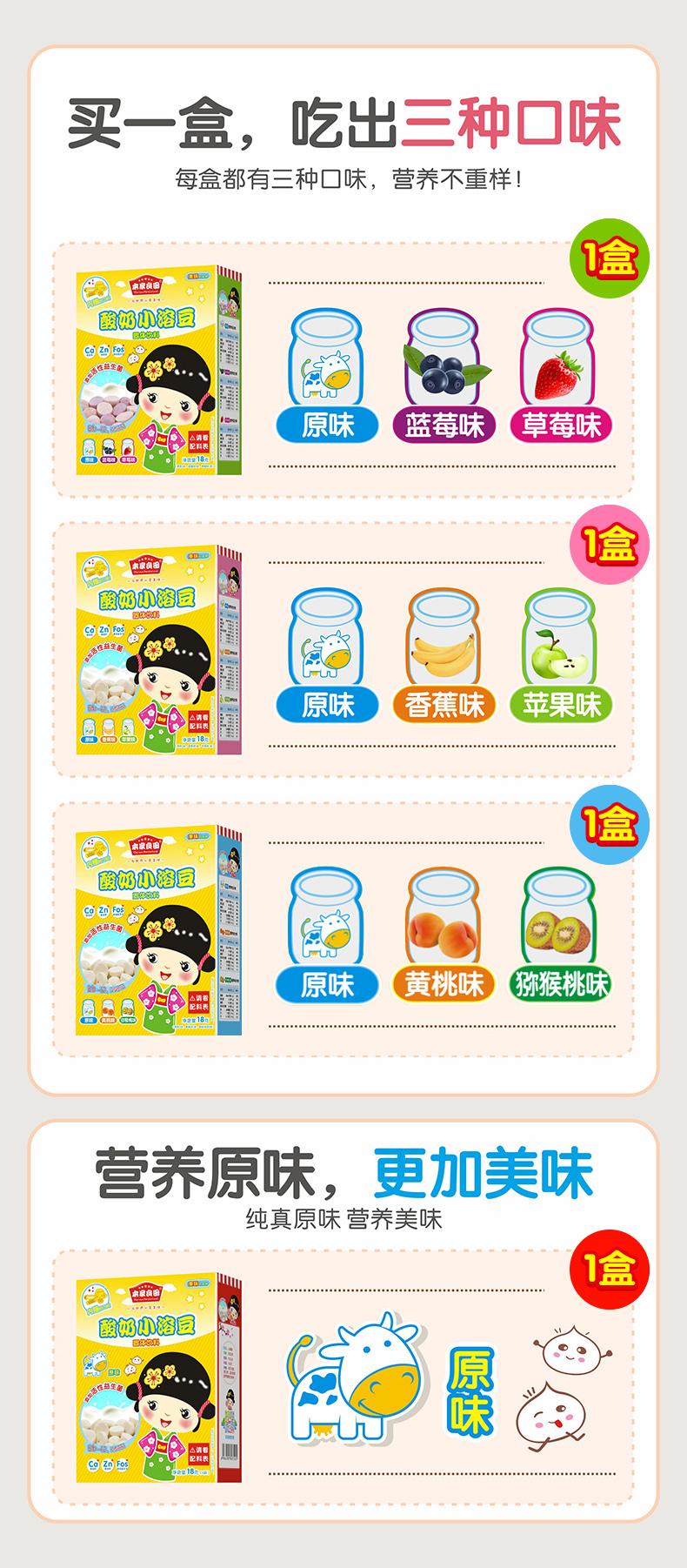 本家良田酸奶小溶豆盒宝宝小零食益生菌溶溶豆详细照片