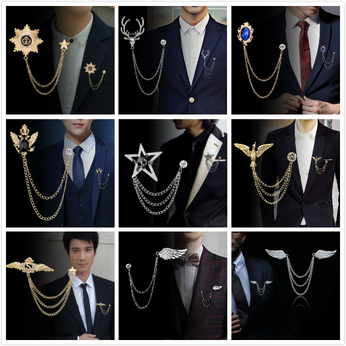 Chinese Style Retro Atmosphere Dragon-shaped Brooch Mens Suit Collar Needle Domineering Dragon Badge Suit Jacket Ornament Arts,crafts & Sewing Apparel Sewing & Fabric