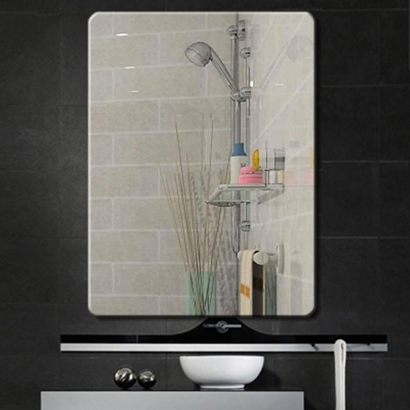 卫生间浴室镜装饰镜洗脸盆无框厕所玻璃卫浴定做镜子壁挂可粘贴