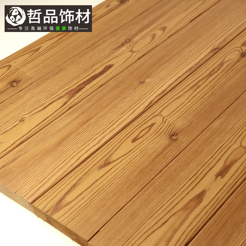 哲品防腐木地板户外露台深度碳化木板炭化木墙板桑拿板吊顶板木方