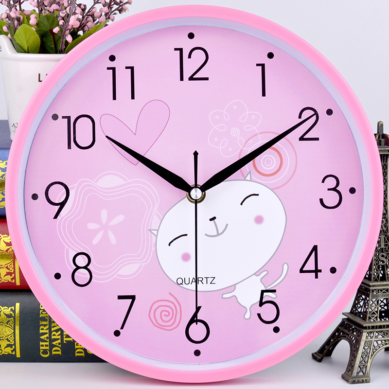 USD 13.77] Silent wall clock living room hanging table fashion Clock ...