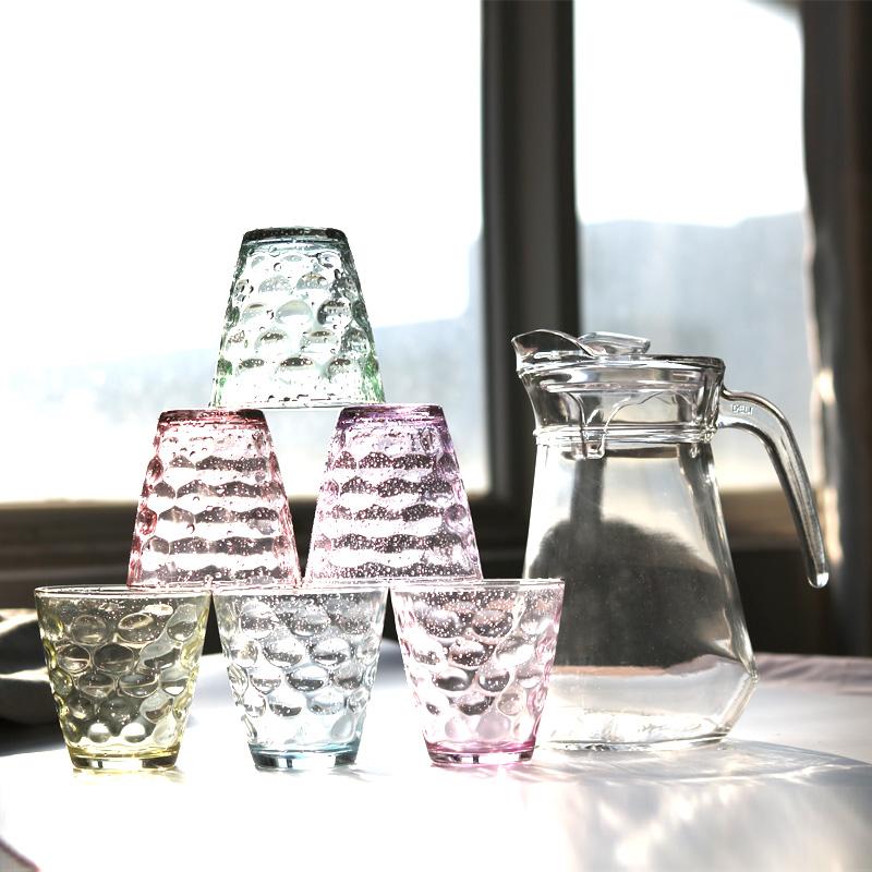 创意 玻璃茶杯 水具 7件套