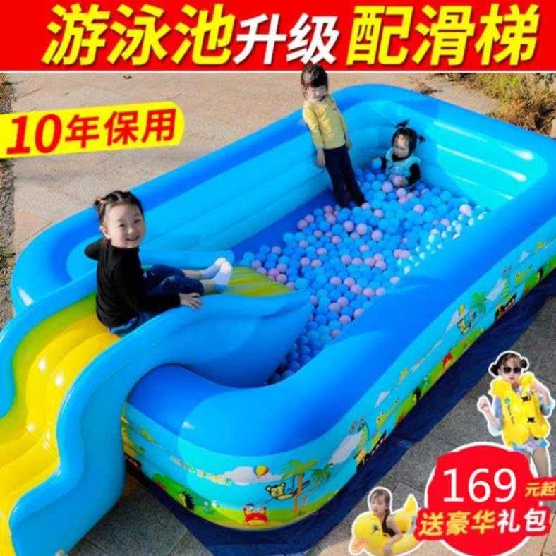 Bể bơi dành cho người lớn Phòng tắm gia đình Phòng tắm sâu hơn Phòng tắm cho trẻ nhỏ Bảo vệ môi trường Mùa hè bốn tầng dành cho người lớn - Bể bơi / trò chơi Paddle