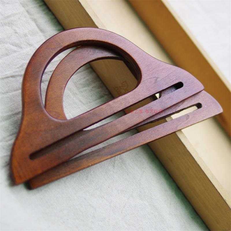 Ручка для сумки 小型本色衣架型木手挽 木提手 木质提把 木手柄  17元/对