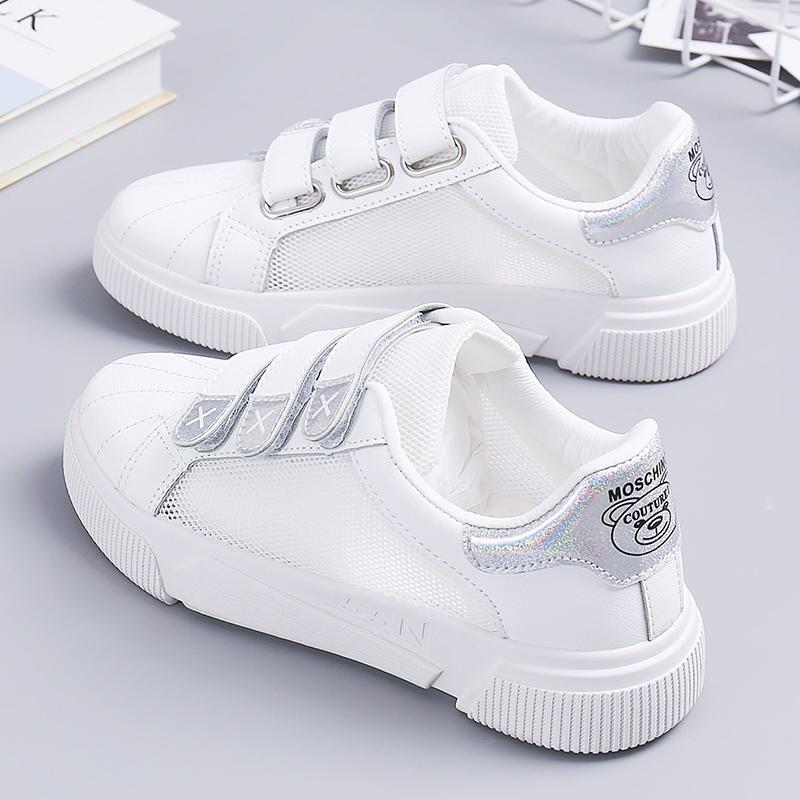 魔术怡安透气正品贴小白鞋女网面踏雪夏款2019夏季新款百搭板鞋白