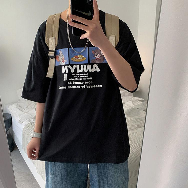 短袖t恤男潮牌2021新款夏季潮流百搭