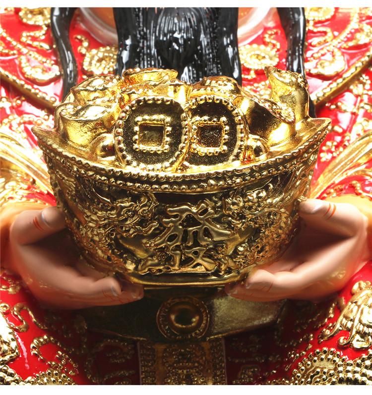 ༧༨如༸༹意⇝財神爺佛像招財店鋪開業禮品樹脂神像文財神風水供奉財神爺擺件ytgy-77