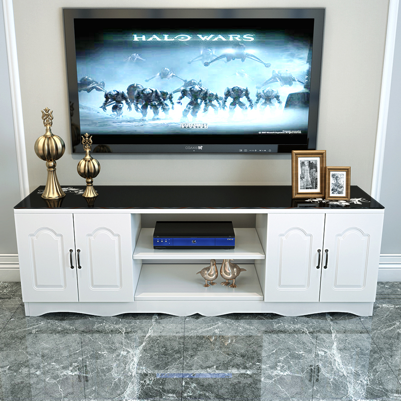 Simple Modern TV Cabinet European Living Room Combination Small Bedroom  Tempered Glass Simple Mini TV Cabinet