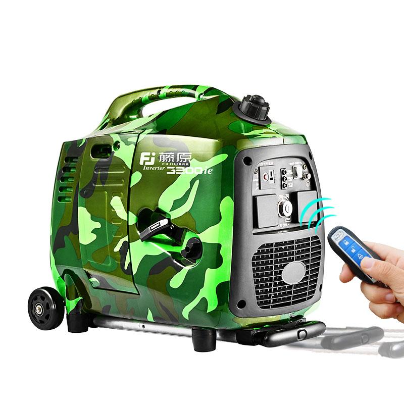 藤原變頻發電機家用220v小型便攜式房車載增程器汽油智能遙控電箱