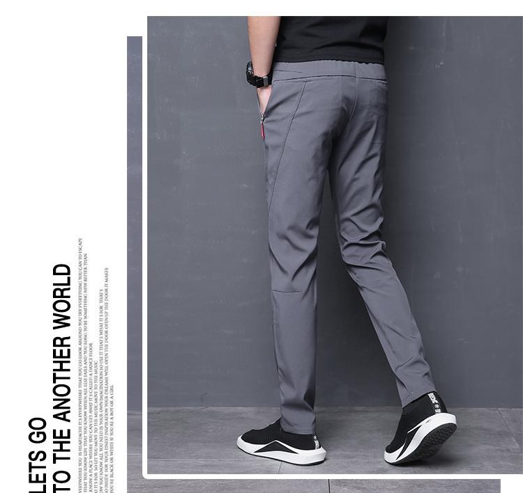 长期供货跑量休闲裤冰丝超薄宽松哈伦运动修身小脚韩版裤k819-p30