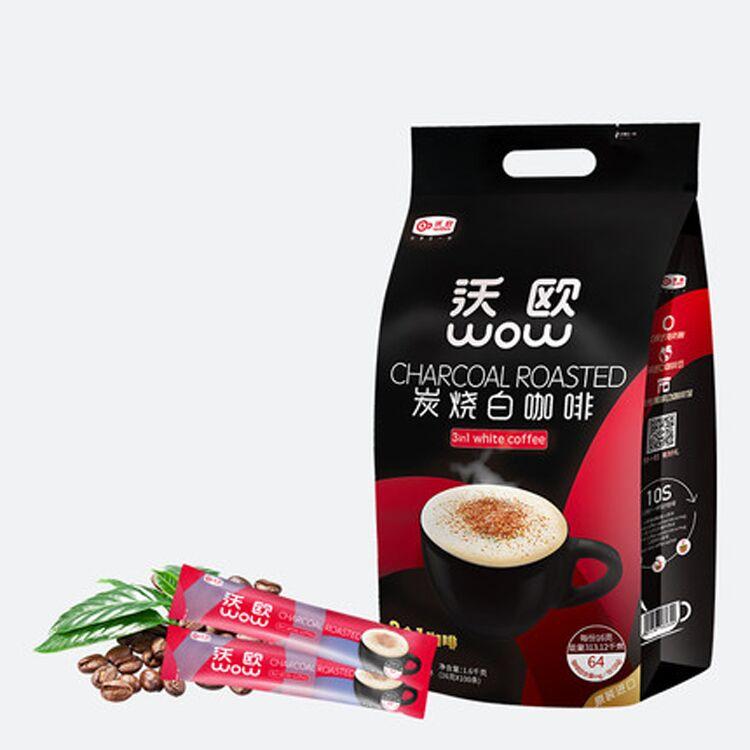 沃欧 炭烧咖啡速溶进口三合一100条
