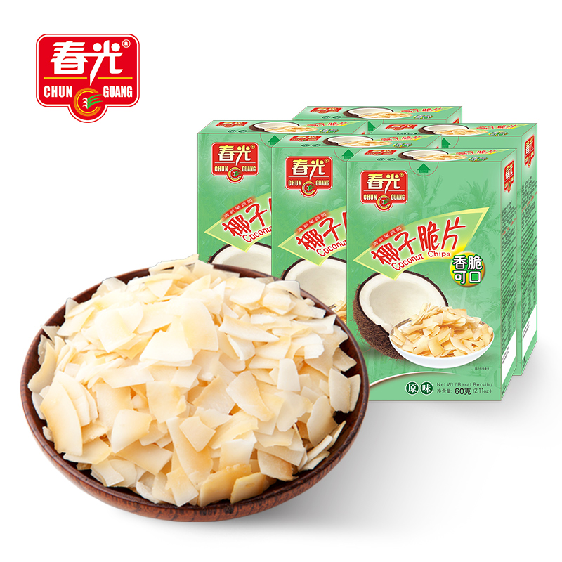 【春光】 海南特产椰子脆片60g*5袋