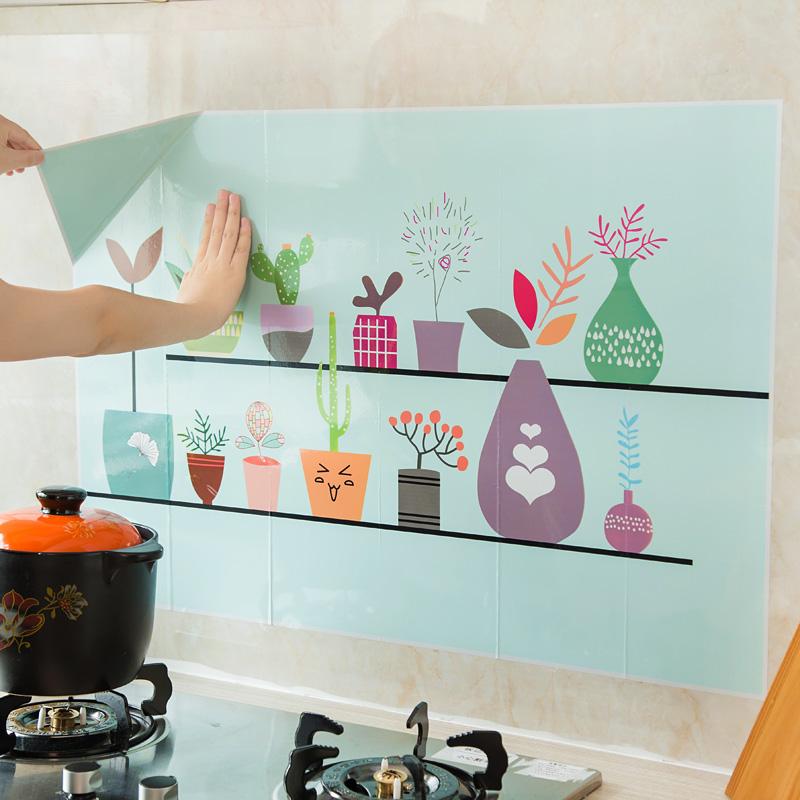 Кухня самоклеящийся масло наклейки большой размер кухня тайвань высокотемпературные керамическая плитка наклейки для стен домой масло дым наклейки водонепроницаемый обои