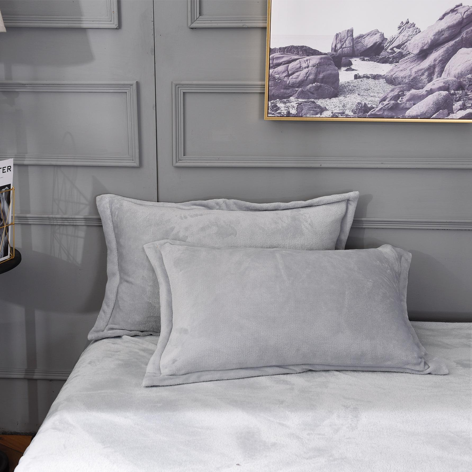 珊瑚绒枕套法莱绒加厚法兰绒枕头套冬天加绒保暖学生宿舍一对一只
