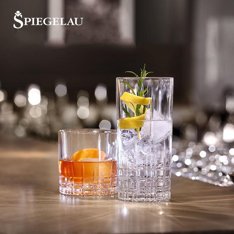 德国SPIEGELAU进口水晶玻璃威士忌杯洋酒杯啤酒杯创意果汁杯水杯