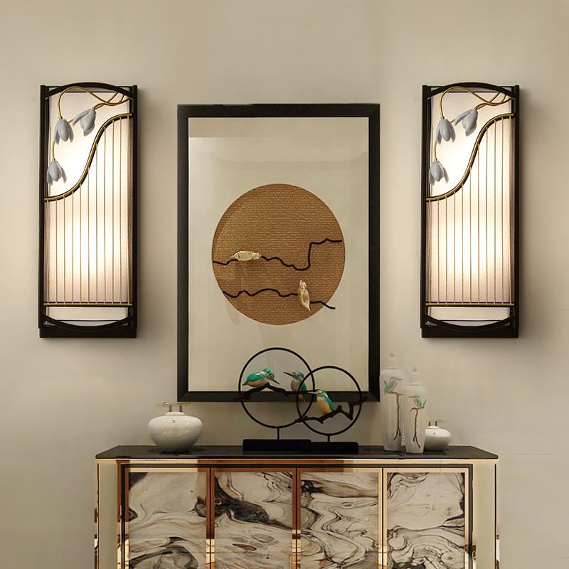 壁灯客厅装饰墙壁灯中式温馨酒店饭店走廊过道简约现代卧室床头灯