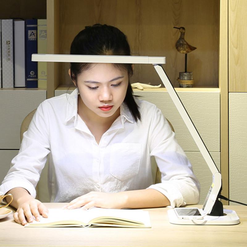 品川节能led护眼台灯充电书房阅读大学生书桌床头儿童学习写字灯