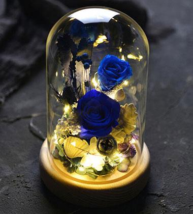 上海-带灯永生花-A