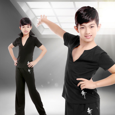 Children's Latin Dance Costume Gongfu Boys'Dance Costume Children's Professional Grade Examination Costume Competition Costume Exercise Costume