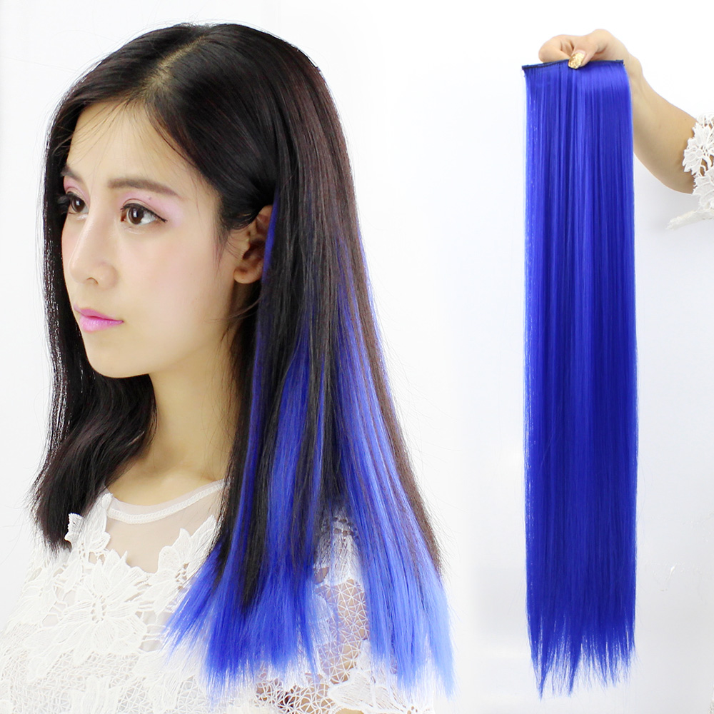 Wig Female Color Hair Extensions Ponytail Gradient Highlights Wigs