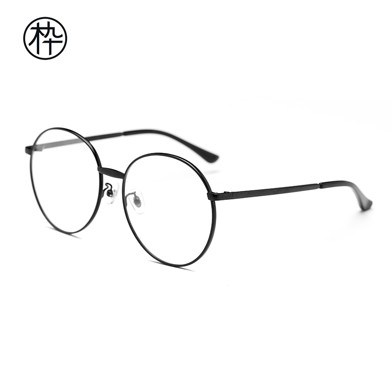 0c04c9f701 ... MUJOSH wood ninety anti-blue glasses FM1600052 metal round frame  anti-blue flat mirror ...