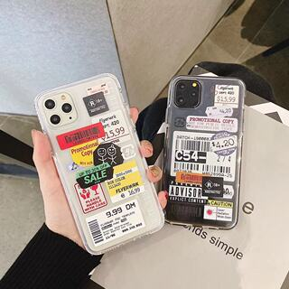 New Apple 12promax mobile phone shell tide brand letter barcode label 8plus creative iphone11 couple X