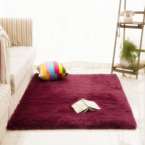 简约现代长毛地毯卧室满铺可爱房间榻榻米客厅床边毯防滑定制水洗