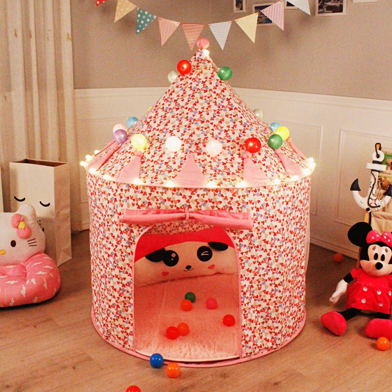 便捷睡觉小朋友卡通小房子幼儿便携儿童帐篷 室内家庭男孩单5岁