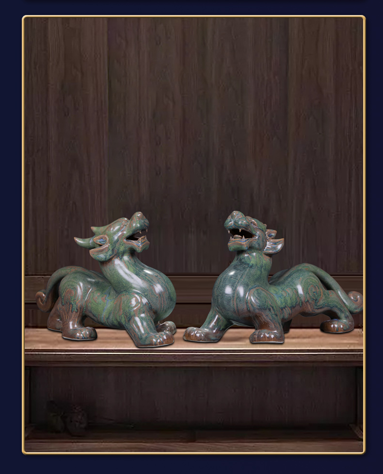 Its is the mythical wild animal furnishing articles home sitting room office study of jingdezhen ceramics shop lucky money and crafts