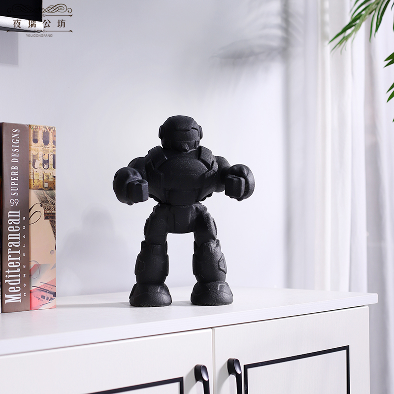 Creative arts furnishing articles ceramic robot sitting room TV ark, wine desktop version into gifts
