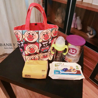 Japanese Anpanman multifunctional tote bag large lunch box lunch box bag canvas mummy bag
