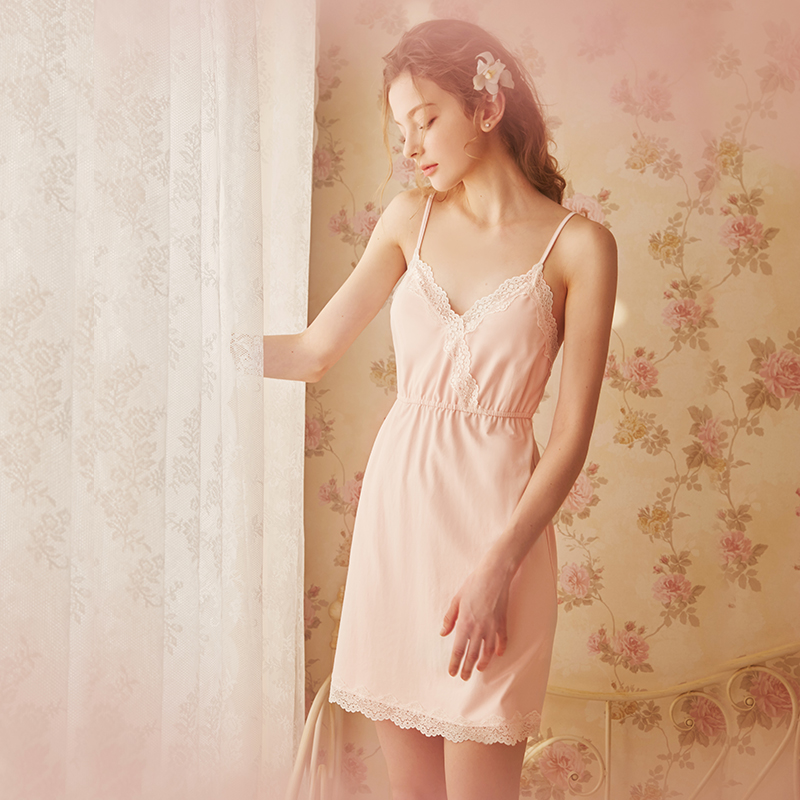 Rosetree court sexy suspenders nightdress female summer Princess lace  pajamas v collar cute Japanese home service. Zoom · lightbox moreview ·  lightbox ... 85dcca900