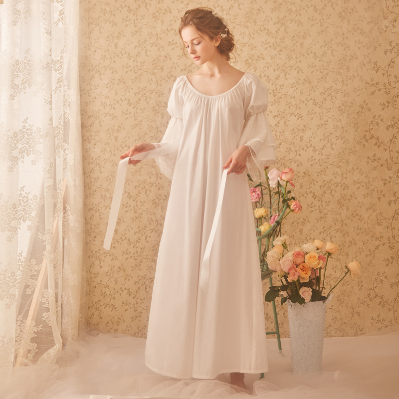 USD 127.70  RoseTree Palace retro nightdress female spring long ... af1404775