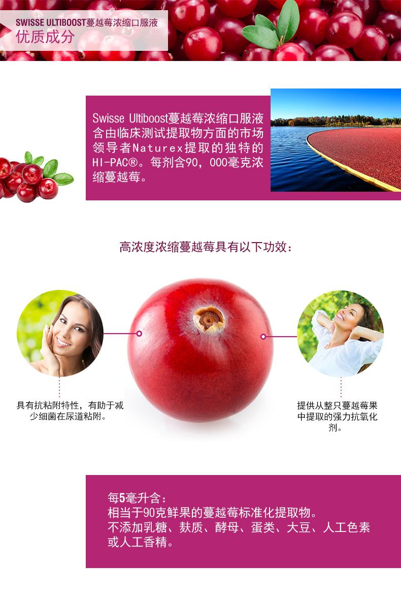 澳洲Swisse高浓缩蔓越莓口服液呵护女性泌尿健康300ml 运动营养 第3张