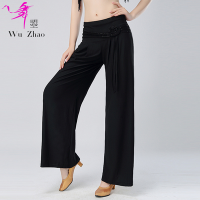 Adult modern dance trousers with big feet and fashionable Latin Square trousers