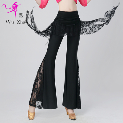 Adult women's Latin dance training trousers, fashionable and modern national standard social dance trousers