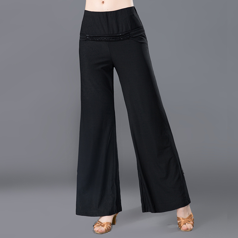 Adult Female Modern Dance Broad-legged Pants Latin National Standard Social Dance Pants