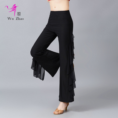 Adult Ladies Latin Dance Pants Fashionable Dance Practice Pants in National Standard Square