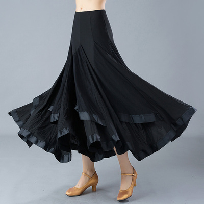 Adult Ladies Modern Dance Skirt Waltztango Friendship Dance Exercise Skirt