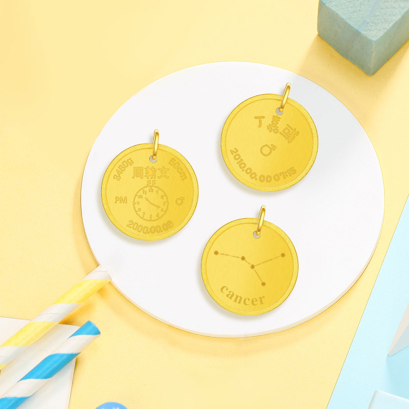 Tide Acer love imprint gold custom gold pendant baby birthday wedding  commemorative coin as intended gold medal gift